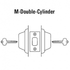 BEST 7T37MSTK626 - Double Cylinder Deadbolt-LESS CORE-satin chrome
