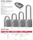 "BEST-41B722LM5 Padlock, Less Core, steel shackle 3/8"" x 1-1/2"" w/galvanized steel chain"