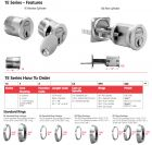 "BEST-1E74C115RP3626 BEST standard mortise cylinder 1 3/8"", 7 pin, straight cam- satin chrominum"