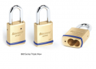 "CCL - 1-3/4"" KIK Brass Padlock w/o core 1"" SS shackle"