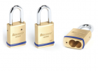 "CCL - 1-3/4"" KIK Brass Padlock w/o core 1-1/2"" SS shackle"