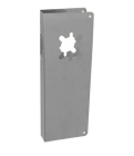 """Don-Jo 14-S-2-CW-630- Wrap Around Plate 5"""" x 14"""" x 1-3/4"""" for 2-3/4""""BS stainless steel"""