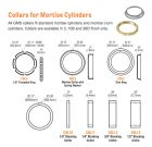 "GMS COL2 626 - Mortise cylinder trim ring, 1/8""  - satin chrome (10 pack)"