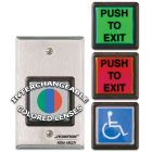 Securitron EEB2 630 - Emergency exit Button w/ 30 sec timer - SF grn/red/handicap - Stainless steel