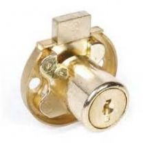 CCL 02069 KA CAT 30 US4 - Push & Turn Sliding Door Lock - Disc Tumbler - keyed alike - satin brass