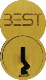 BEST 1C6A1606 - Standard Core- 6 pin, A keyway, uncombinated-satin brass