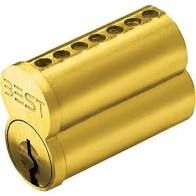 BEST 1C7A1606 - Standard Core- 7 pin, A keyway, uncombinated-satin brass