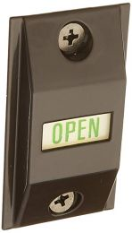 "Adams Rite 4089-00-121 Exit indicator - standard 1 3/4"" door - dark bronze"