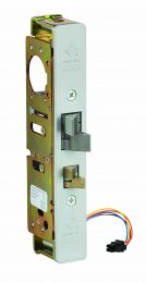 "ADAMS RITE 4300-40-201-628 - Door Electrified Deadlatch, 1-1/2"" Backset, 4-5/8"" Flat Strike, Clear Anodized Faceplate, For Aluminum Door"