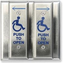 MS SEDCO 59V-HSS DPDT - Switch Vestibule 2 SS Face Plates -Wheelchair/Push to Open/Arrows - DPDT
