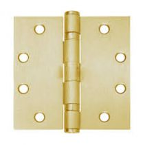 "IVES 5BB1 3.5x3.5 RC14 NRP 633 - HINGE, Round Couner 1/4"" - standard weight - SATIN BRASS"