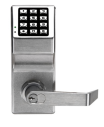 "ALARM LOCK DL2700IC 26D - Electronic Digital Lock, Keyless, 12-Button, 6/7-Pin Tumbler Cylinder, Lever Trim, 3-1/4"" Width x 8"" Height, Metal Keypad, Solid Brass Cylinder, Satin Chrome"
