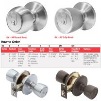 BEST 6K30L4DSTK626RH - MEDIUM DUTY PRIVACY LOCK