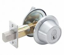 BEST-8T37KSTK626 Single Cylinder Deadbolt-LESS CORE-satin chromium