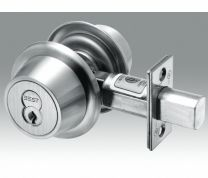 BEST-8T37LSTK626 Single Cylinder Deadbolt-no turnknob -LESS CORE-satin chromium