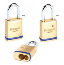 """CCL 56033 - 1-3/4"""" LFIC SCHLAGE Brass Padlock w/o core  2"""" SS shackle"""