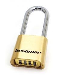 """CCL - 4-Dial Resettable Brass Padlock - 2-1/4"""" hardened steel shackle"""
