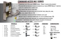 Command Access FP-ML180 625 Faceplate for storeroom/classroom mortise locksets - bright chromium