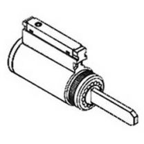 Corbin CR2000-033-D2-626 - Door Lock Component Cylinder, Conventional, Key-in-Lever, 6-Pin, D2 Keyway, Satin Chrome Plated