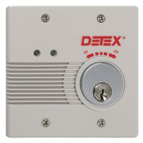 Detex AC/DC External Powered Wall Mount Exit Alarm w/ factory cylinder installed