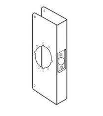 """Don-Jo 4-S-2-CW-630- Wrap Around Plate 4-3/4"""" x 9"""" x 1-3/4"""" for 2-3/4""""BS stainless steel"""