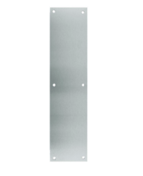"""Don-Jo 71-629- Push Plate 4"""" x 16"""" x .050  B4E - bright stainless steel"""