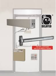 "DETEX ECL-230X Gray 36""/48"" EasyKit - 03PP/IP/IC7/CL/RK, single podeadbolt only - exit control lock, includes 9V battery, English push plate (RWE std.) photo luminescent sign"