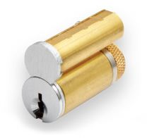 GMS LFIC G23 626 OB Large Format IC Core Schlage C123 kwy - zero-bitted - satin chrome