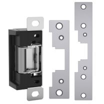 HES 7000C 630 - Electric Strike w/ 791/792 faceplates, 12/24VDC, field selectable Fail Safe / Fail Secure - satin stainless