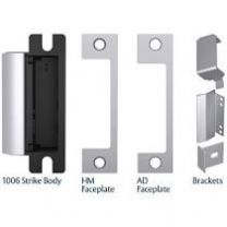 HES 1006CDB 630 - Electric strike kit for mortise deadbolt locks - fail secure, field selectable 12/24VDC - stainless steel