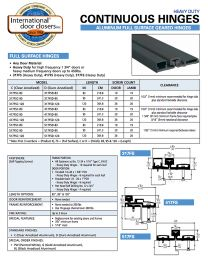 IDC 317FSD 83 - 7' FULL SURFACE CONTINUOUS GEAR HINGE - DURO ANODIZED