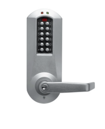 KABA E5010XSWL 626 -  Simplex E5010XSWL626 Eplex Exit Trim Electronic Pushbutton Lock with Winston Lever and Kaba Cylinder Satin Chrome Finish