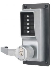 KABA LLP1020-B-26D KABA LLP1020-B-26D Mechanical Push Button Exit Device Trim - LHR - SFIC - less core - satin chrome