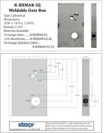 "KEEDEX K-BXMAR-IQ Weldable Box Marks iQueâ""¢. IEI Door Guardâ""¢ LS-1. Locknetics CM5196."