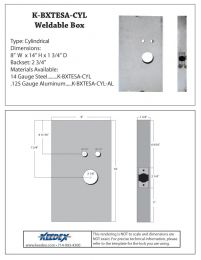 KEEDEX K-BXTESA-CYL Weldable Box Onity Entry Systems Cylindrical Lock