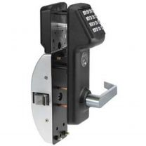 MARKS IQ1LITE 19 Cylindrical Keypad lockset - 160 users - Black Powder Coat w/satin chrome lever