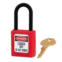 Master Lock 406RED Red Dielectric Zenex™ Thermoplastic Safety Padlock