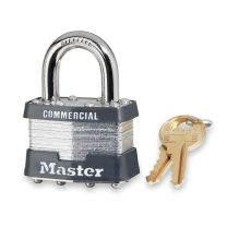 "Master Lock 5LF KA Tumbler Padlock, Keyed Alike, 4-Pin W1 Cylinder, 2"" Width, 1-1/2"" Shackle Clearance, Laminated Steel, With 2 keys"
