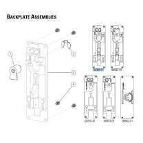 Precision 00369-01 - Backplate Assembly for 2103 exit devices