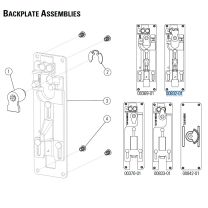 Precision 00832-01 (72140817S) - Backplate Assembly for 2108 exit devices-Precision