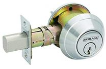 "Schlage B562P 626 - Grade 2 Double Cylinder Deadbolt - 2-3/4""BS - 2-3/4"" x 1-1/8"" strike  - ""C"" Kwy -  Satin Chrome"