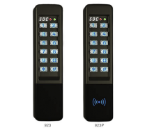 "SDC 923 - NARROW DIGITAL KEYPAD Stand alone up to 500 users, surface mount 1 3/4W x 7 5/16""H x 1 3/8""D, indoor/outdoor entry check - black"