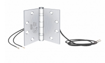 SDC PTH-4C - Power transfer hinge- 4 conductor, 4.5x4.5 , standard weight - Bright Brass