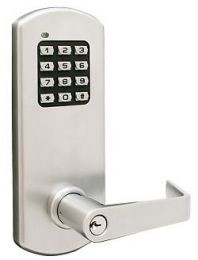 "Townsteel - XCE-2020 S 26D Clutched, Electronic Cylindrical Lockset - 2-3/4"" BS, 4-7/8"" ASA strike, Schlage ""C"" kwy - Satin Chrome"