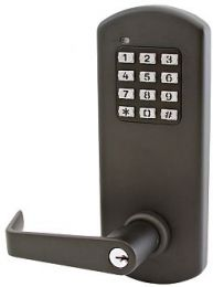 "Townsteel - XCE-2020 S US10B Clutched, Electronic Cylindrical Lockset - 2-3/4"" BS, 4-7/8"" ASA strike, Schlage ""C"" kwy - oil rubbed bronze"