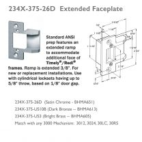 """TRINE - 234X-375-10B 2-3/4"""" Faceplate w/ Extended Ramp"""